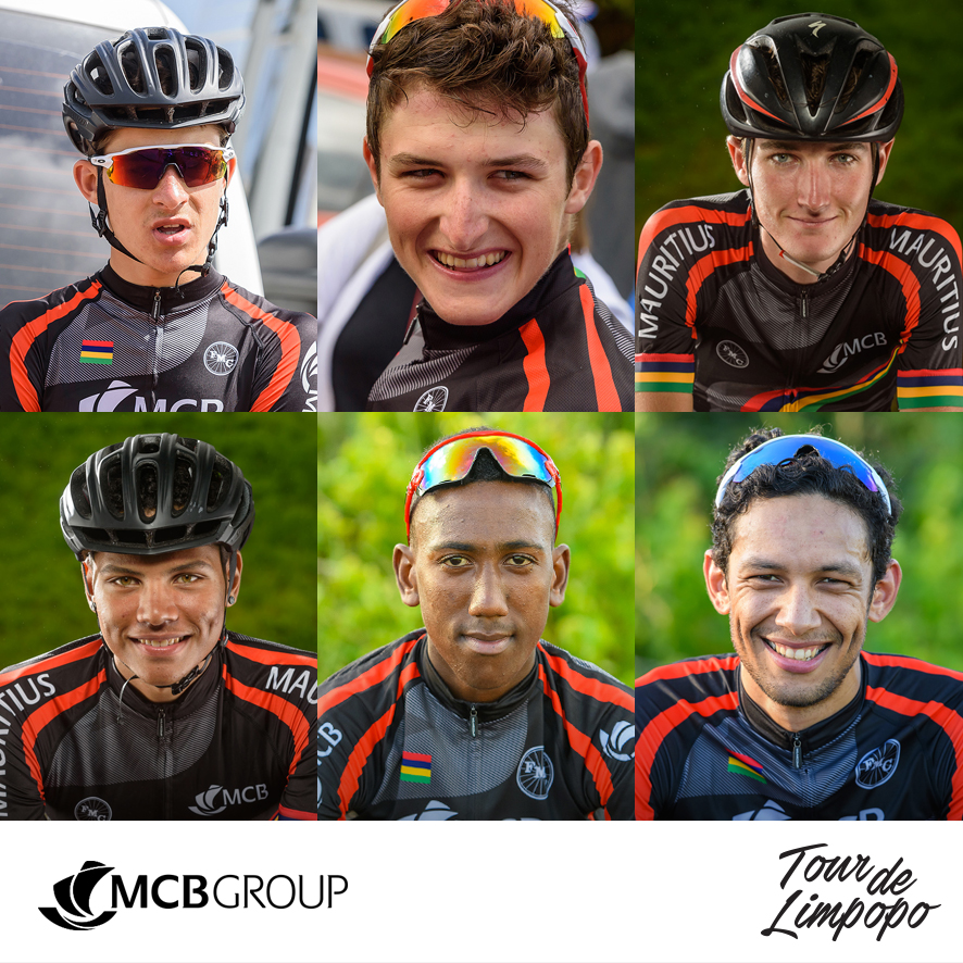 Team MCB from Mauritius will be competing in the inaugural Tour de Limpopo, which starts at the Peter Mokaba Stadium in Polokwane from 23-26 April 2018. The team from top left Alexandre Mayer, Christopher Lagane, Gregory Lagane; bottom from left Dylan Redy, Jeanlito Andre, Thierry David.