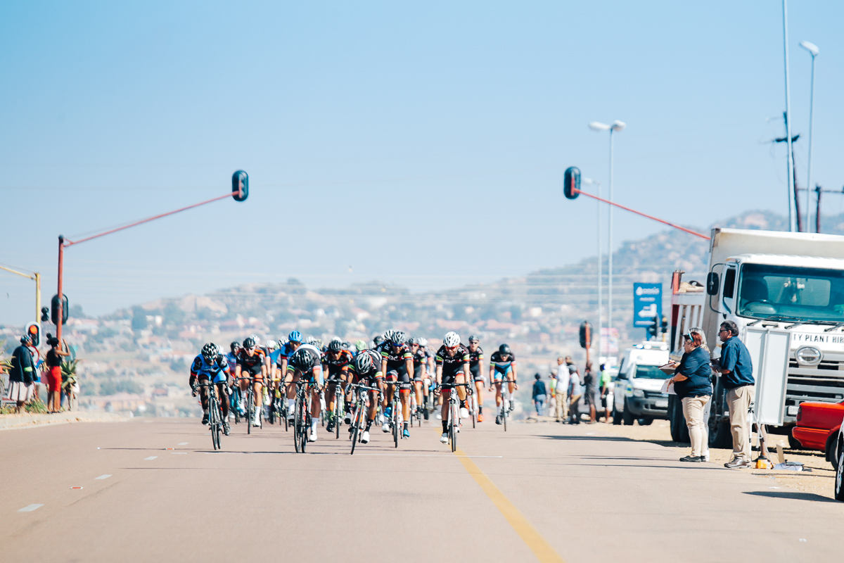 The first Sprint Hotspot of the tour at 26.6km saw Clint Hendricks (Team BCX) claiming maximum points in the charge for the green jersey followed by Ryan Harris (Officeguru Racing), then Abou Sanago (World Cycling Centre Africa Mixed Team) and Steven van Heerden (Team BCX) on Stage 1 of the Tour de Limpopo from Polokwane to Tzaneen on Monday 23 April 2018 ©HaydsBrown