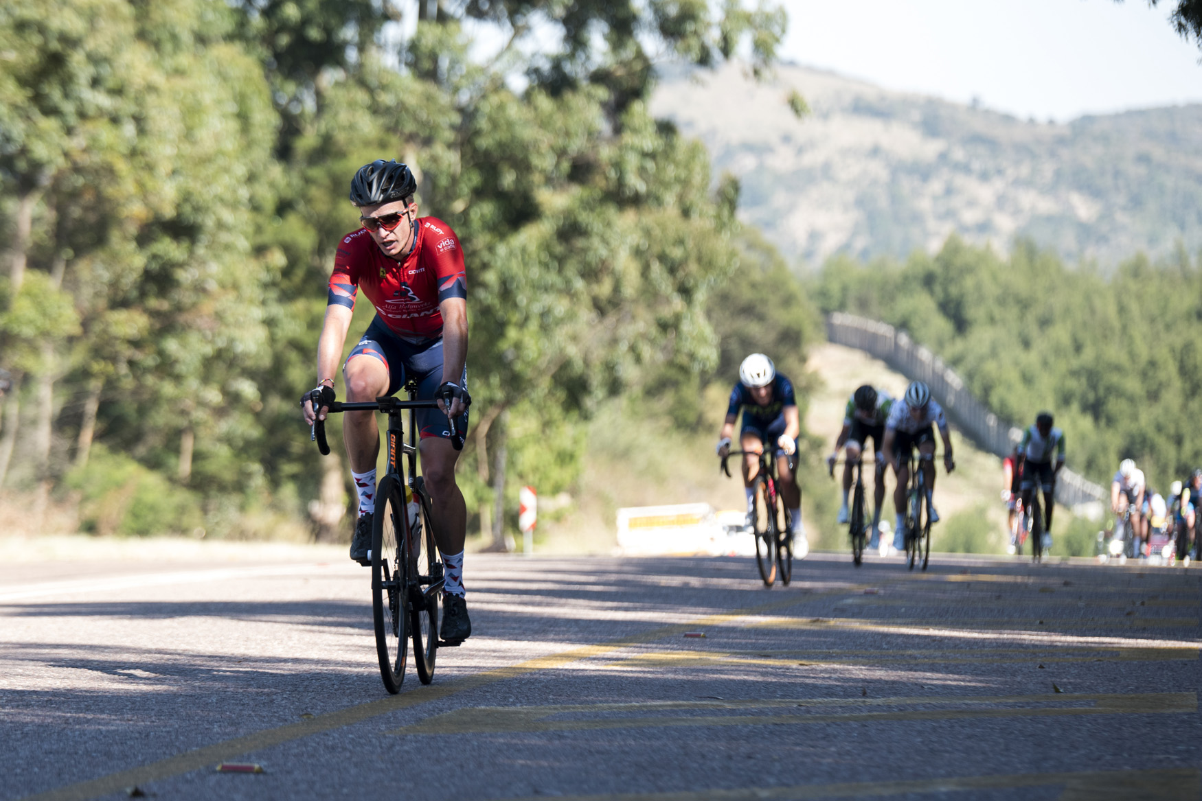 Today's Red Jersey winner for most combative was none other than Hendrik Kruger (Alfa Bodyworks Giant), who could be found in the front of the race throughout the distance from Polokwane to Tzaneen on Stage 2 of the 2019 Tour de Limpopo (UCI 2.2) from 14-18 May © Tour de Limpopo/Andrew Mc Fadden