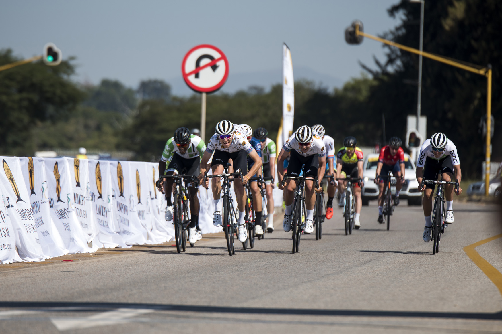 It was a tight race until the very end for Connor Brown (Team Dimension Data Continental) from Polokwane to Tzaneen on Stage 2 of the 2019 Tour de Limpopo (UCI 2.2) from 14-18 May © Tour de Limpopo/Andrew Mc Fadden