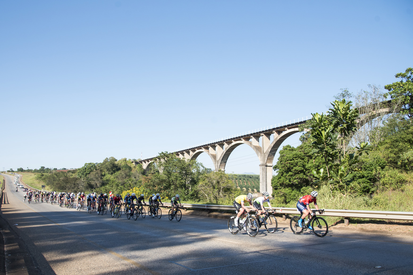 The picturesque departure from Tzaneen to Old Coach Road, Mt. Agatha, on Stage 3 of the 2019 Tour de Limpopo (UCI 2.2) from 14-18 May © Tour de Limpopo/Andrew Mc Fadden