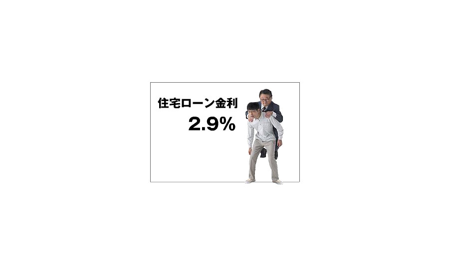 "A graphic demonstration of how interest rates add to the mortgage burden.  Translation: ""Refinance now and lock into fixed rates."""