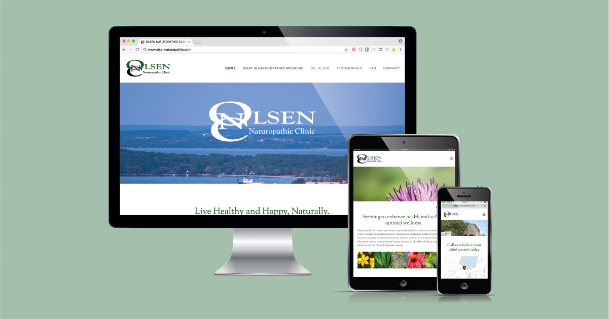 Olsen Naturopathic Clinic's Squarespace website designed and developed by Current 120.