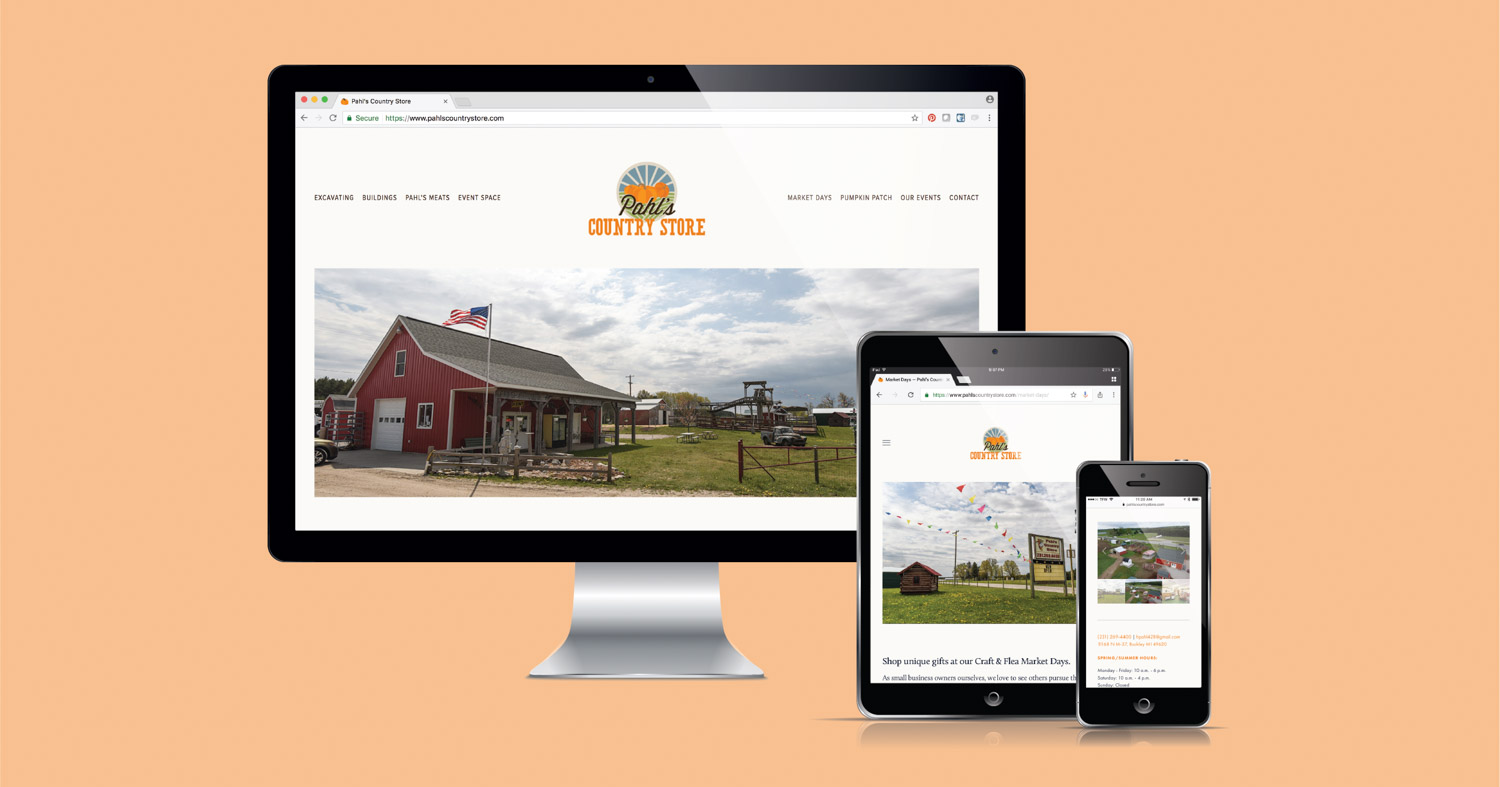 Pahl's Country Store's Squarespace website designed by Current 120.