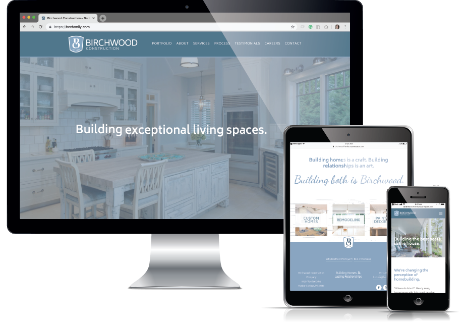 Web Design Traverse City - Luxury Homebuilder Website, Current 120