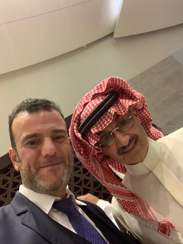 Dr. Tajeddine Seif with HH Prince Al Waleed Bin Talal-W.jpg