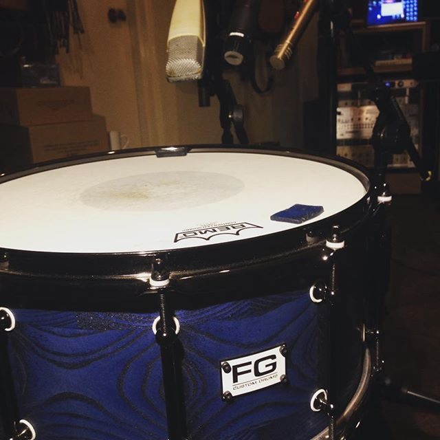 Time for some snare sample magic! @fgcustomdrums @the_chamber_studios #audioengineer #studio