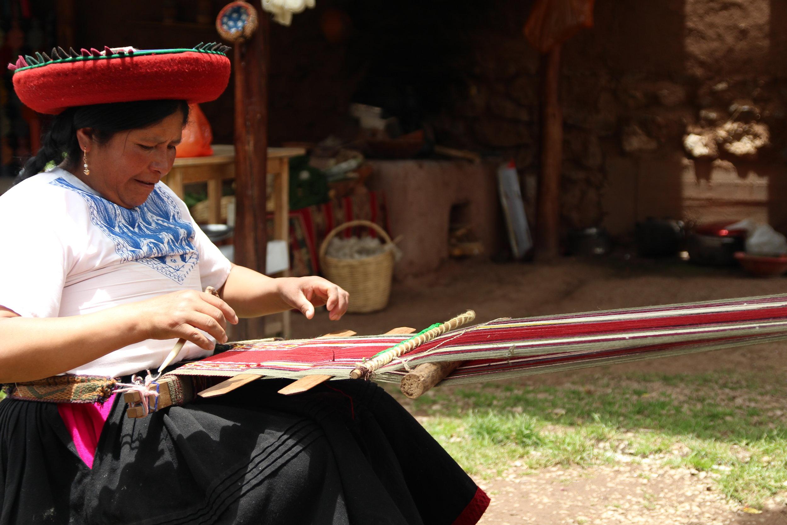 Tradtional Quechuan artisan-Chinchero, Peru