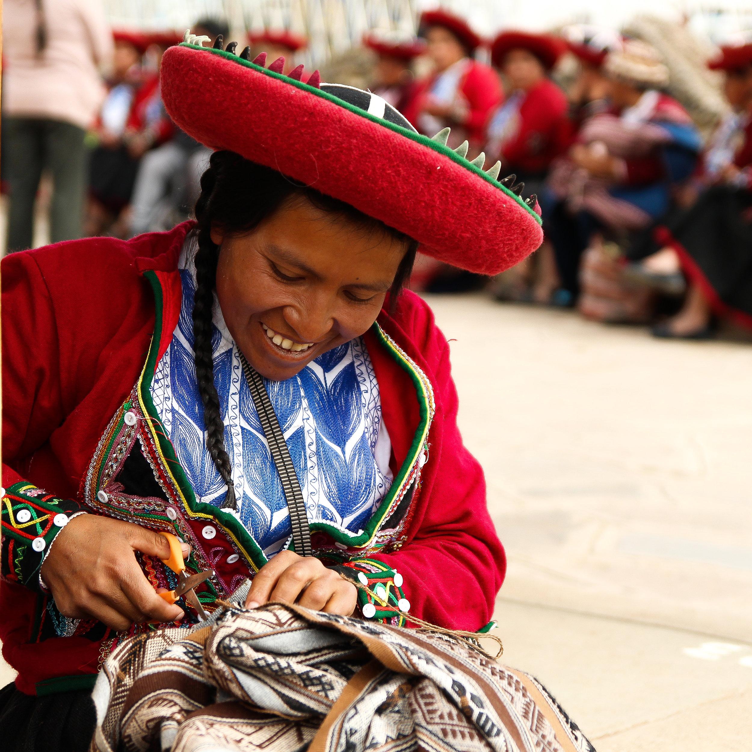Chinchero, Peru, 2018- Lili Maria a Quechuan woman and textile artist