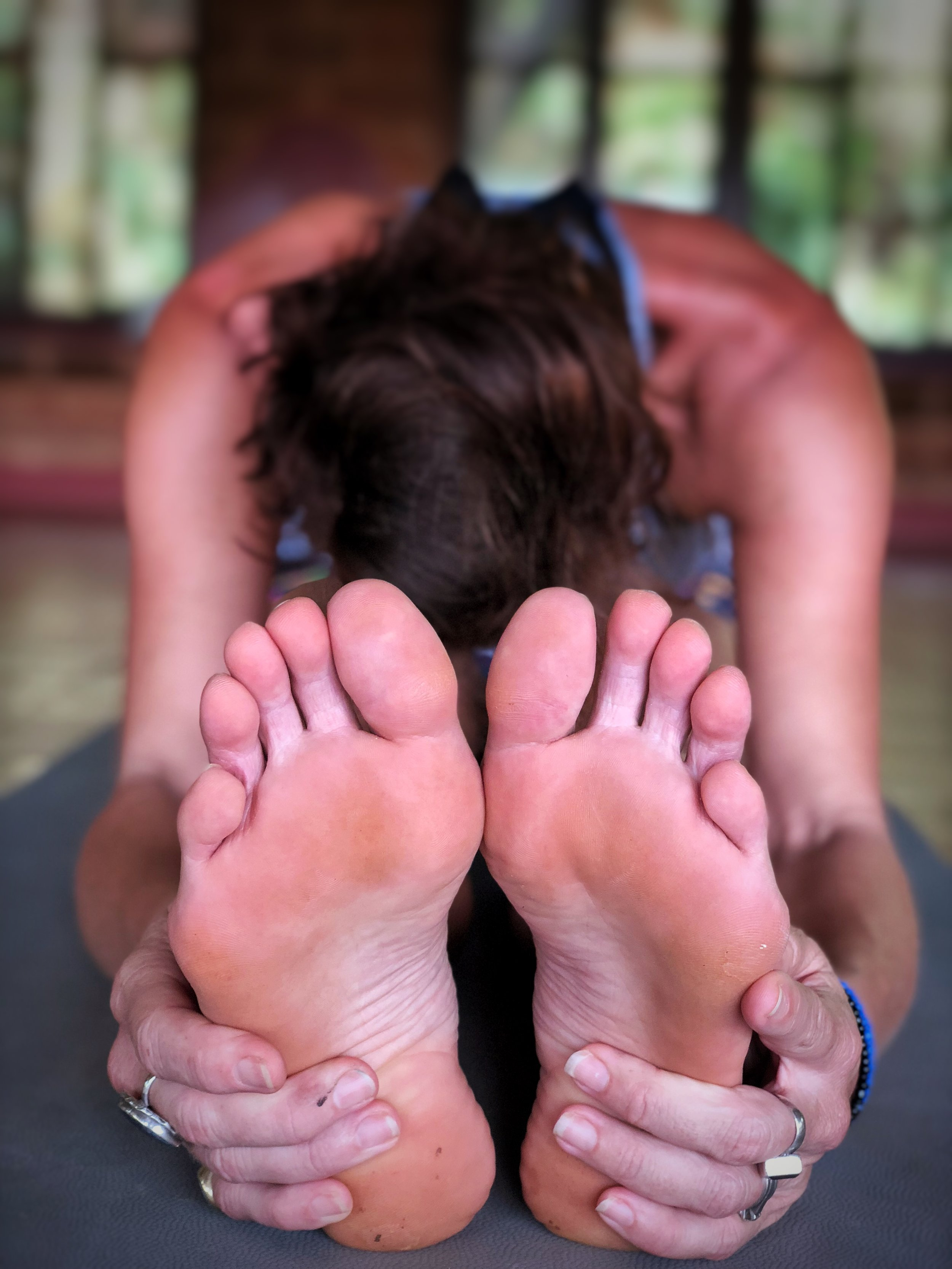 paschimottasana yoga pose (head to knee pose)