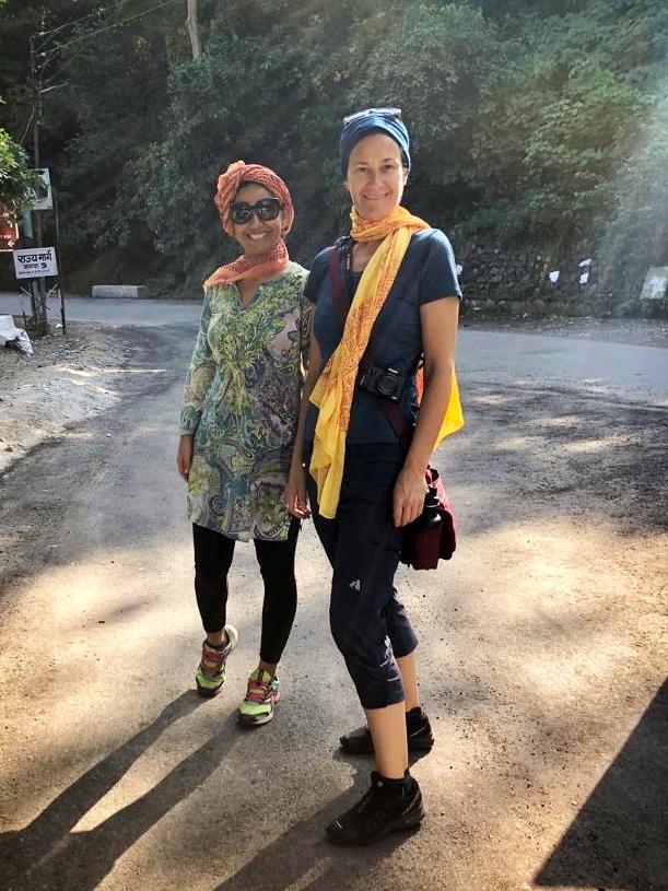 Annie Wyatt and Veechi Shahi in Rishikesh