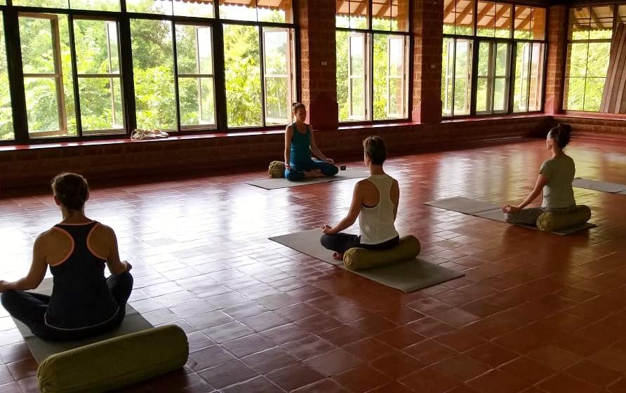 Yoga class in India