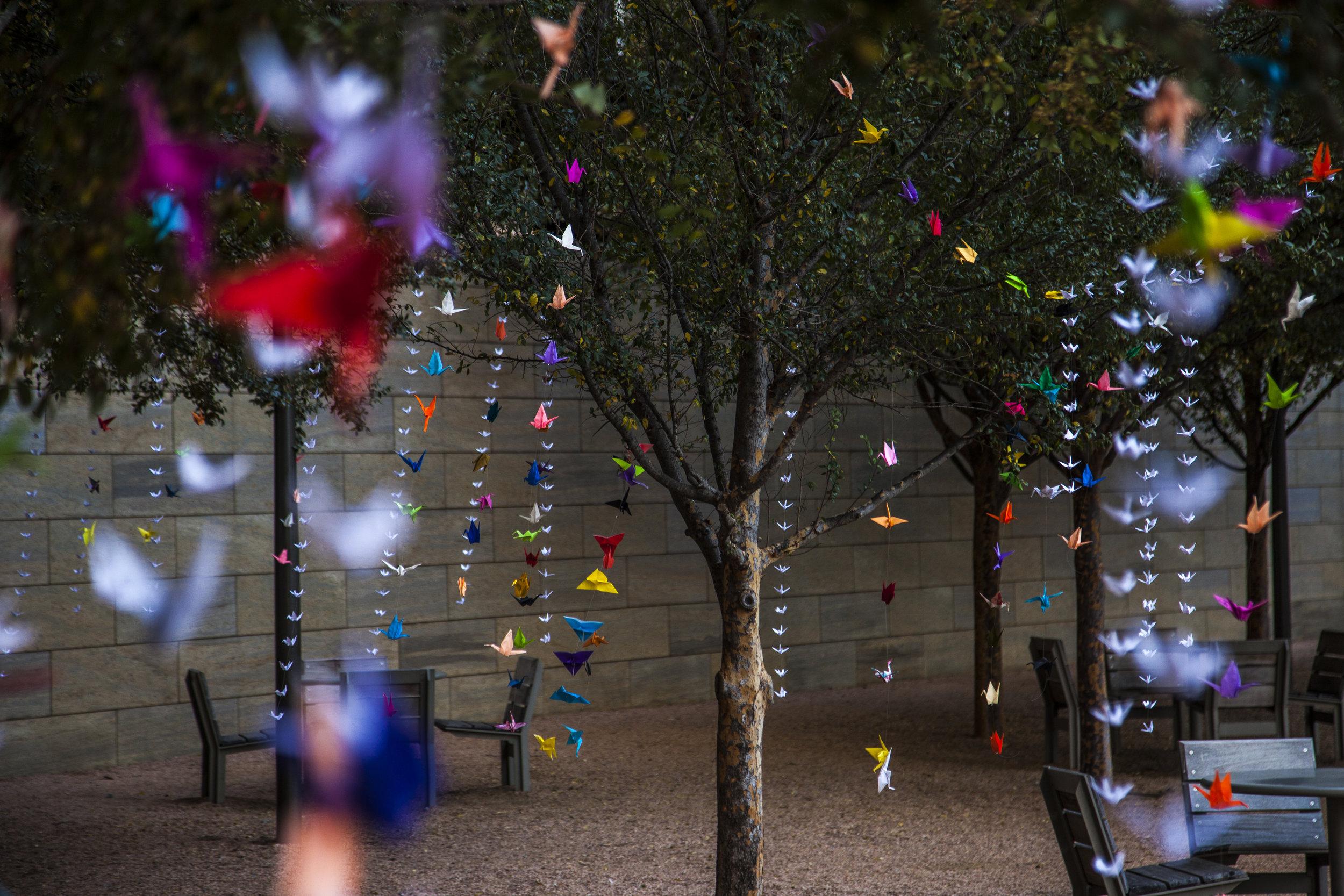 Downtown Dallas Inc. Origami Installation, Photo Courtesy of Public City