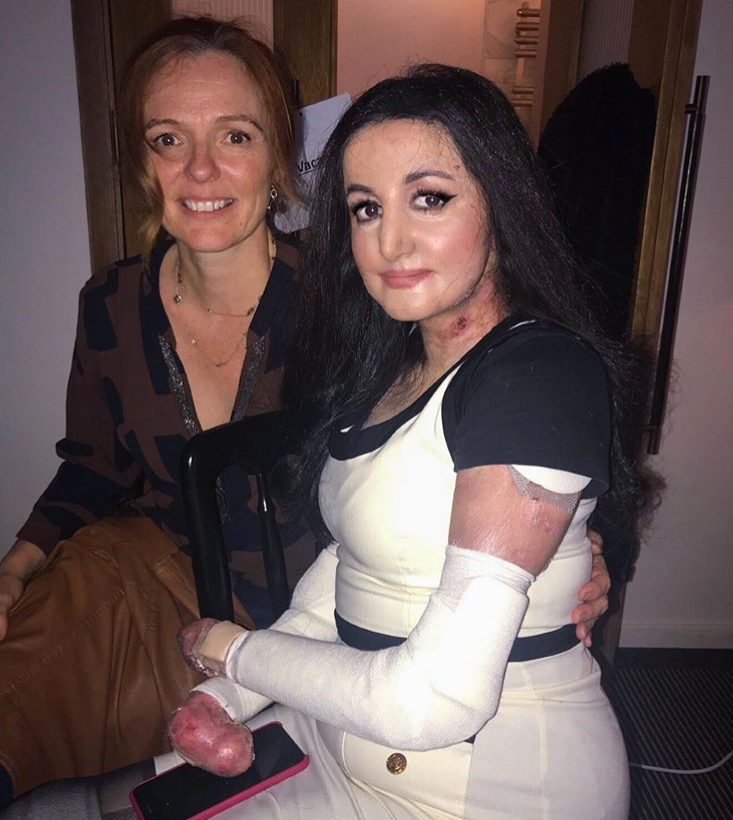 Nikki and Myra prepping for interviews