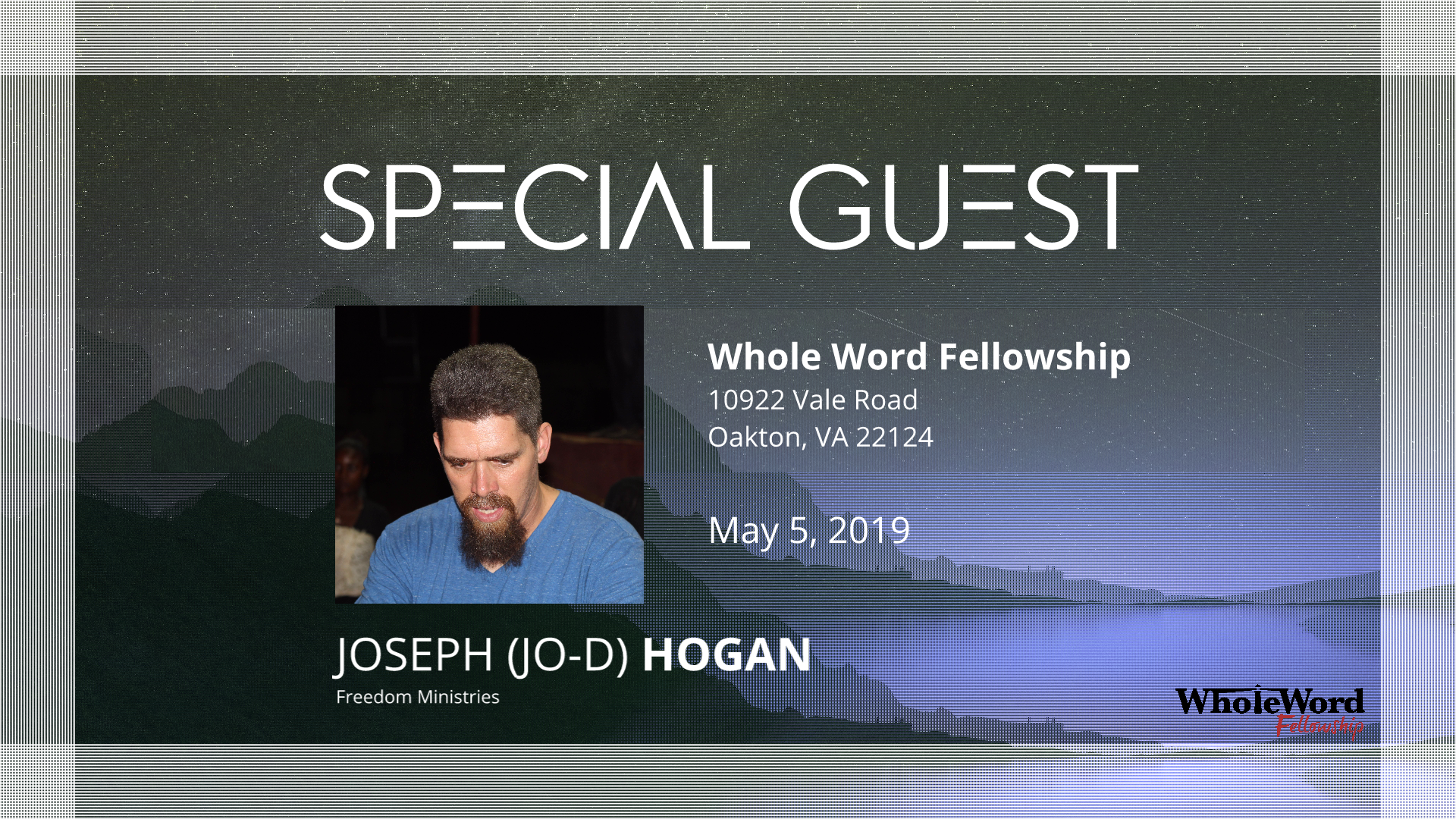 Special Events — Whole Word Fellowship