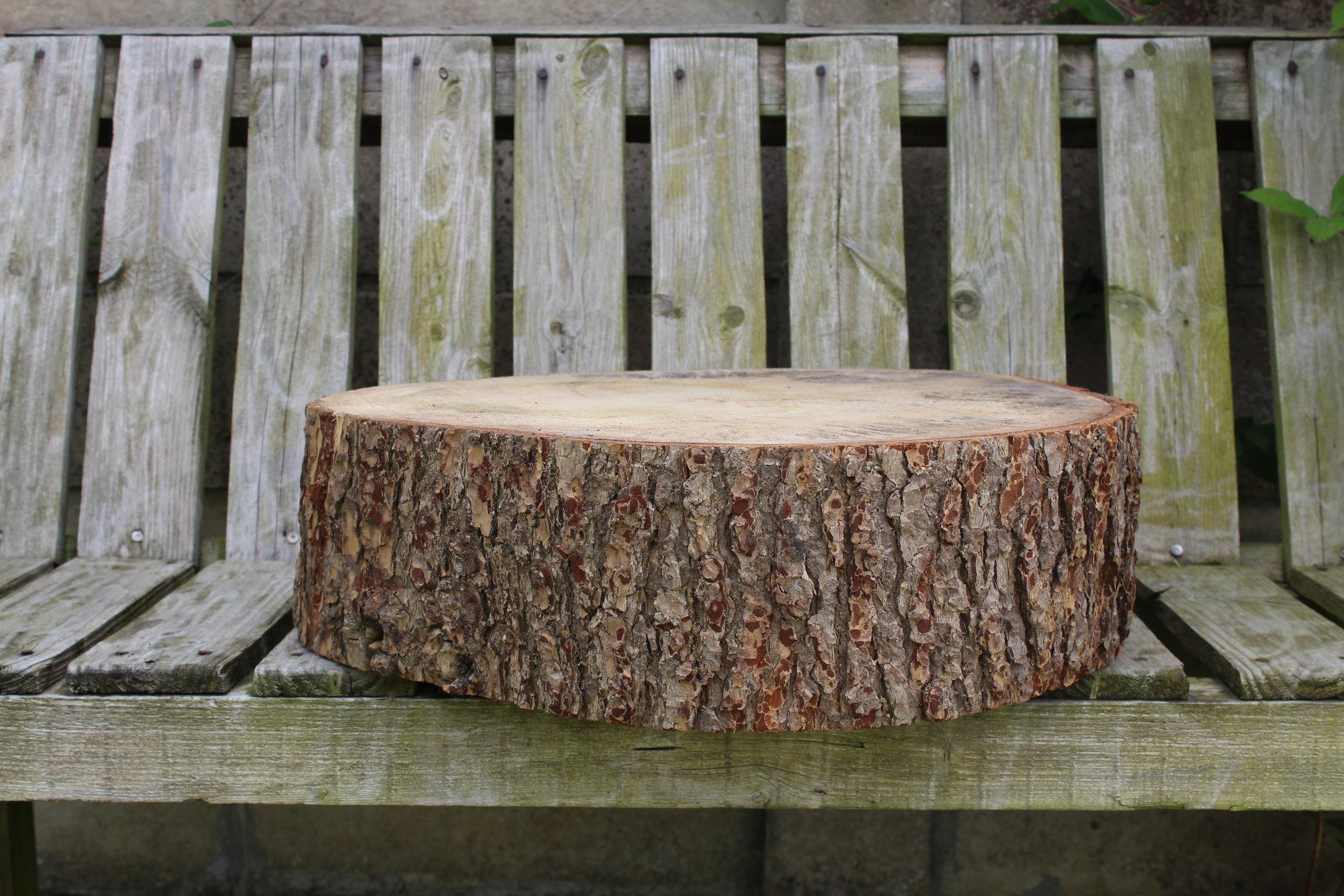"- Large log slice21"" £20"