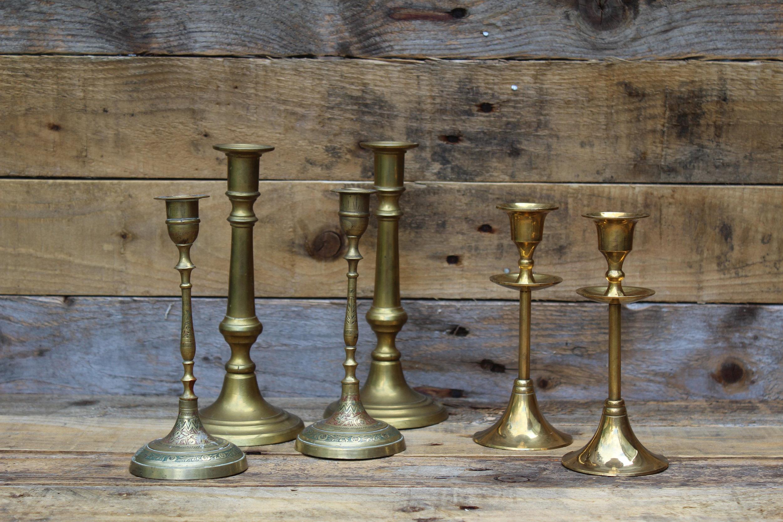 - Various candlesticks & candleabra'sx10 £2 each