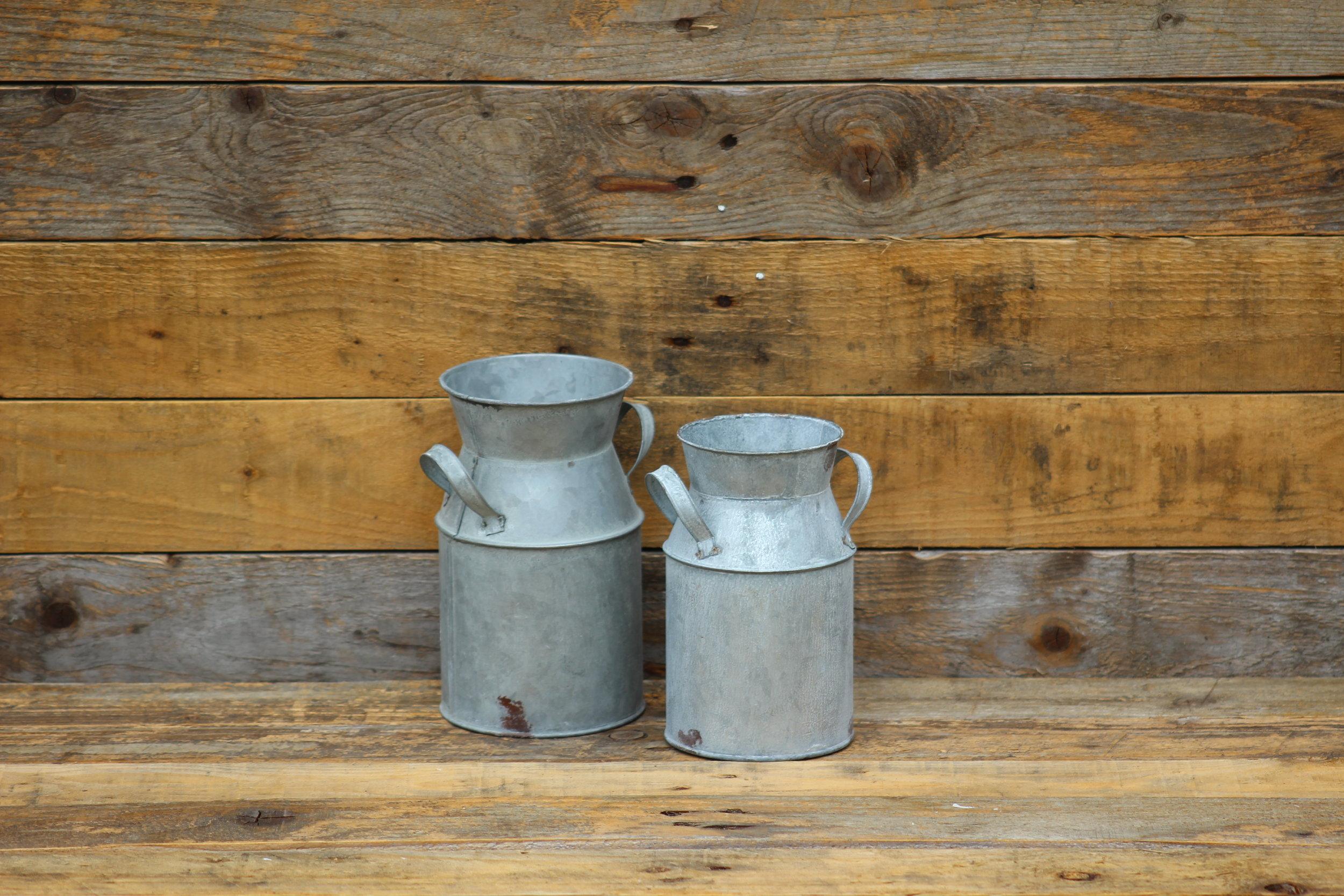 - Mini milk churns (Non waterproof)x2 £1 each
