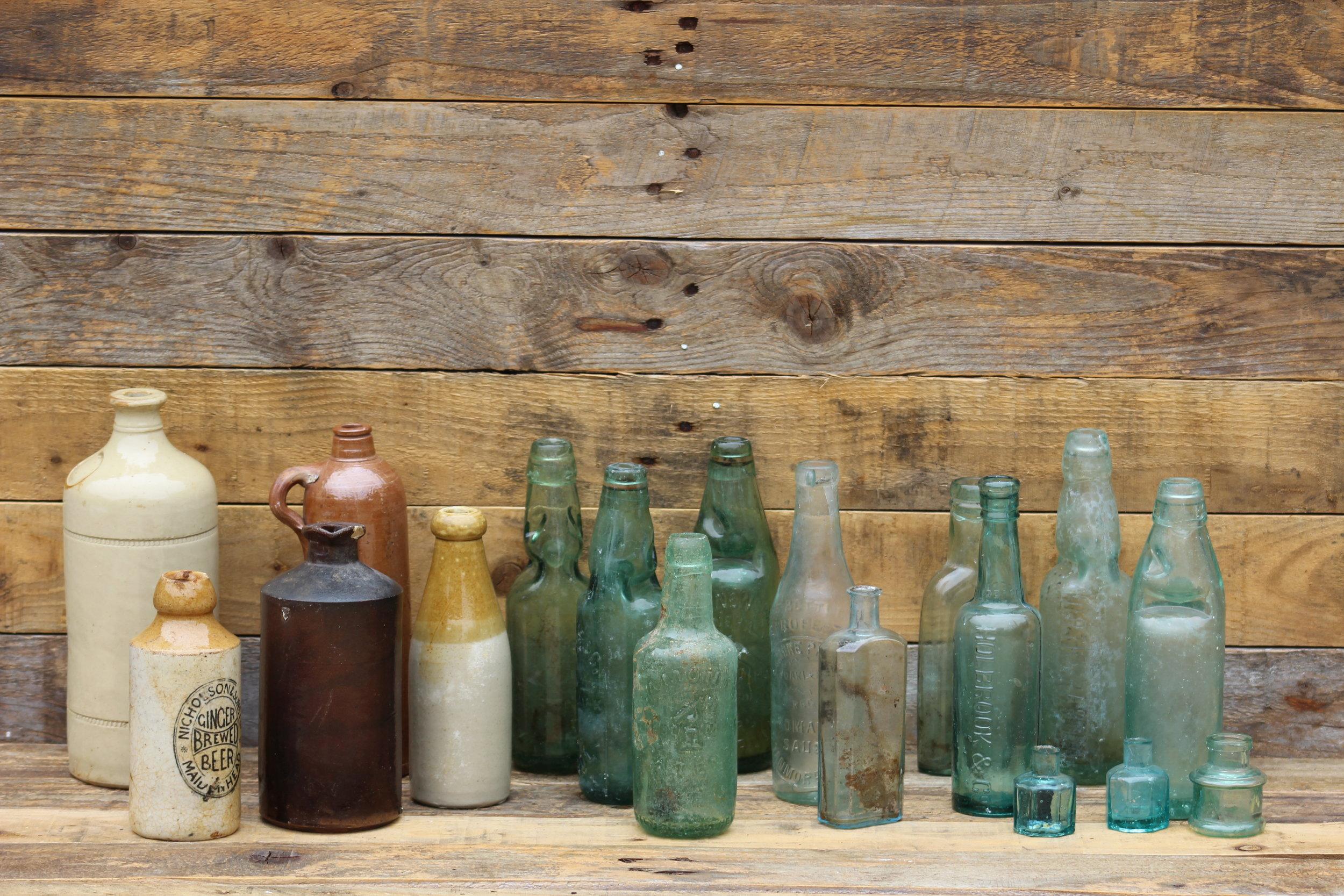 - Various vintage bottlesx18 £1 each