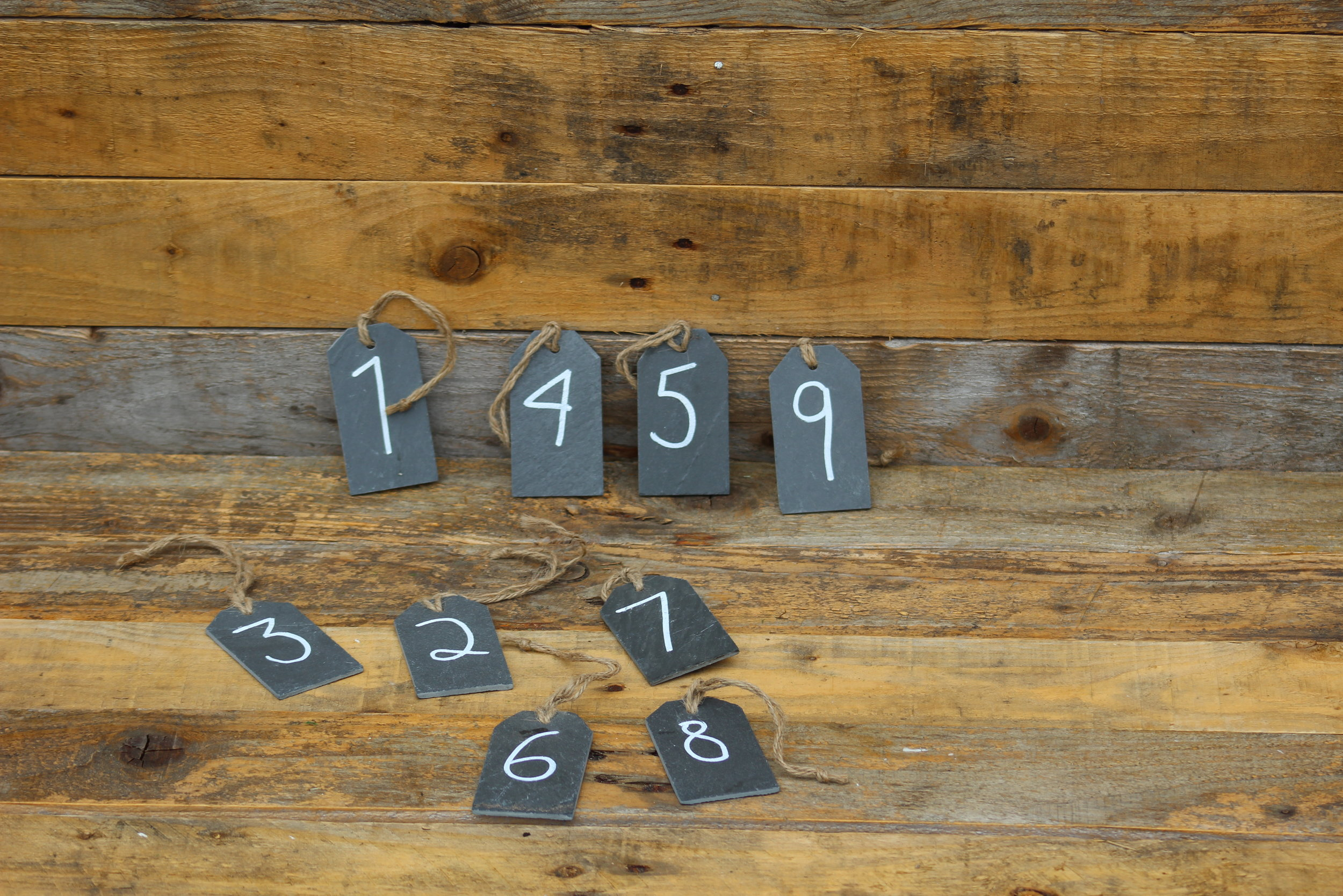 - Slate table numbersNo's 1-10 £1 each