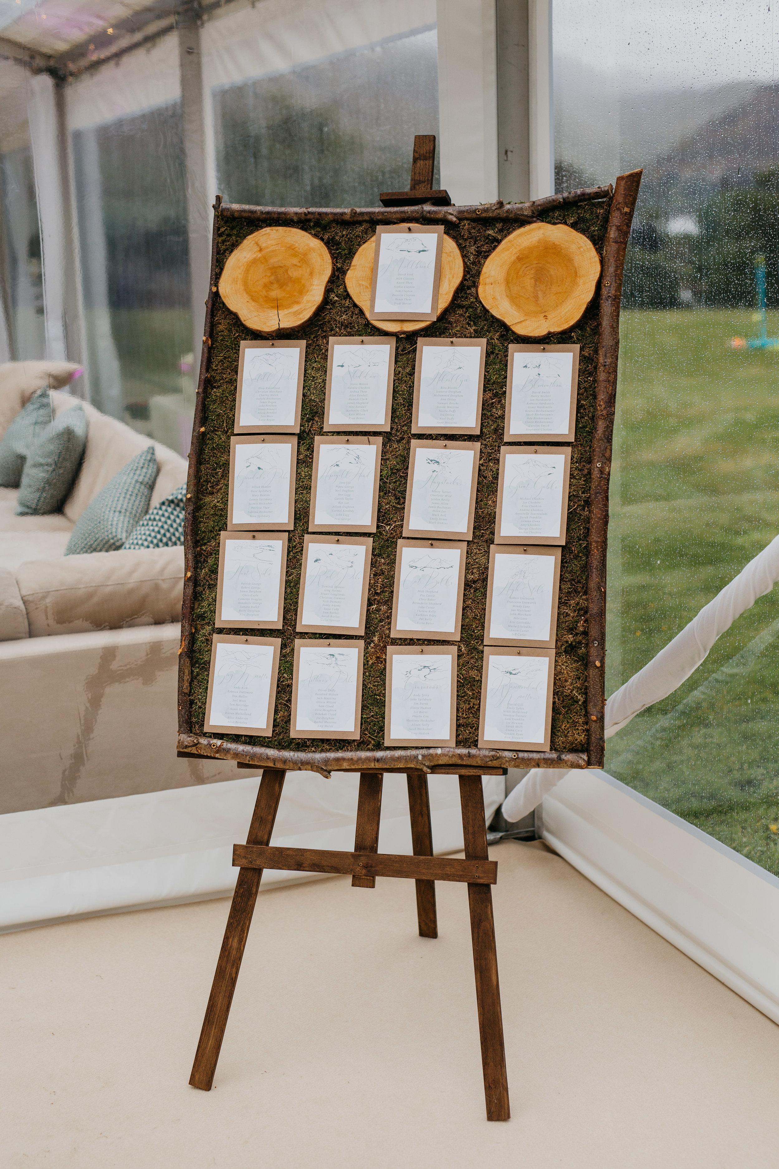 - Bespoke Table Plan (POA)Easel £8