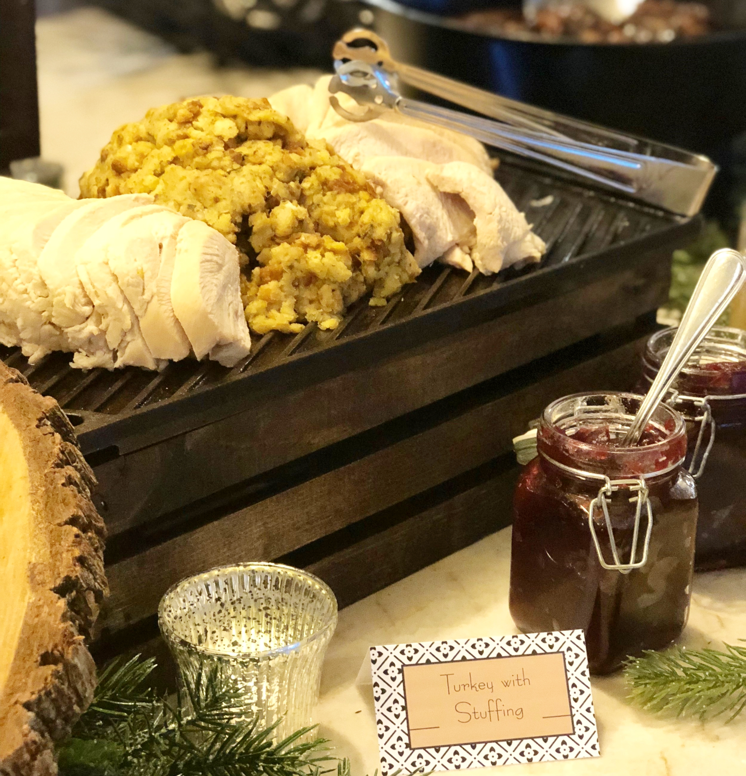 Classic Holiday Menu - This menu was inspired by Norman Rockwell. Your guests will experience the true holiday spirit with these traditional American holiday favorites.