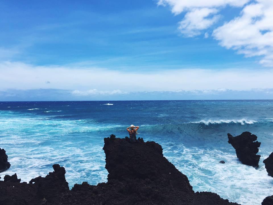 Keoneʻoʻio lava rock fields on Maui