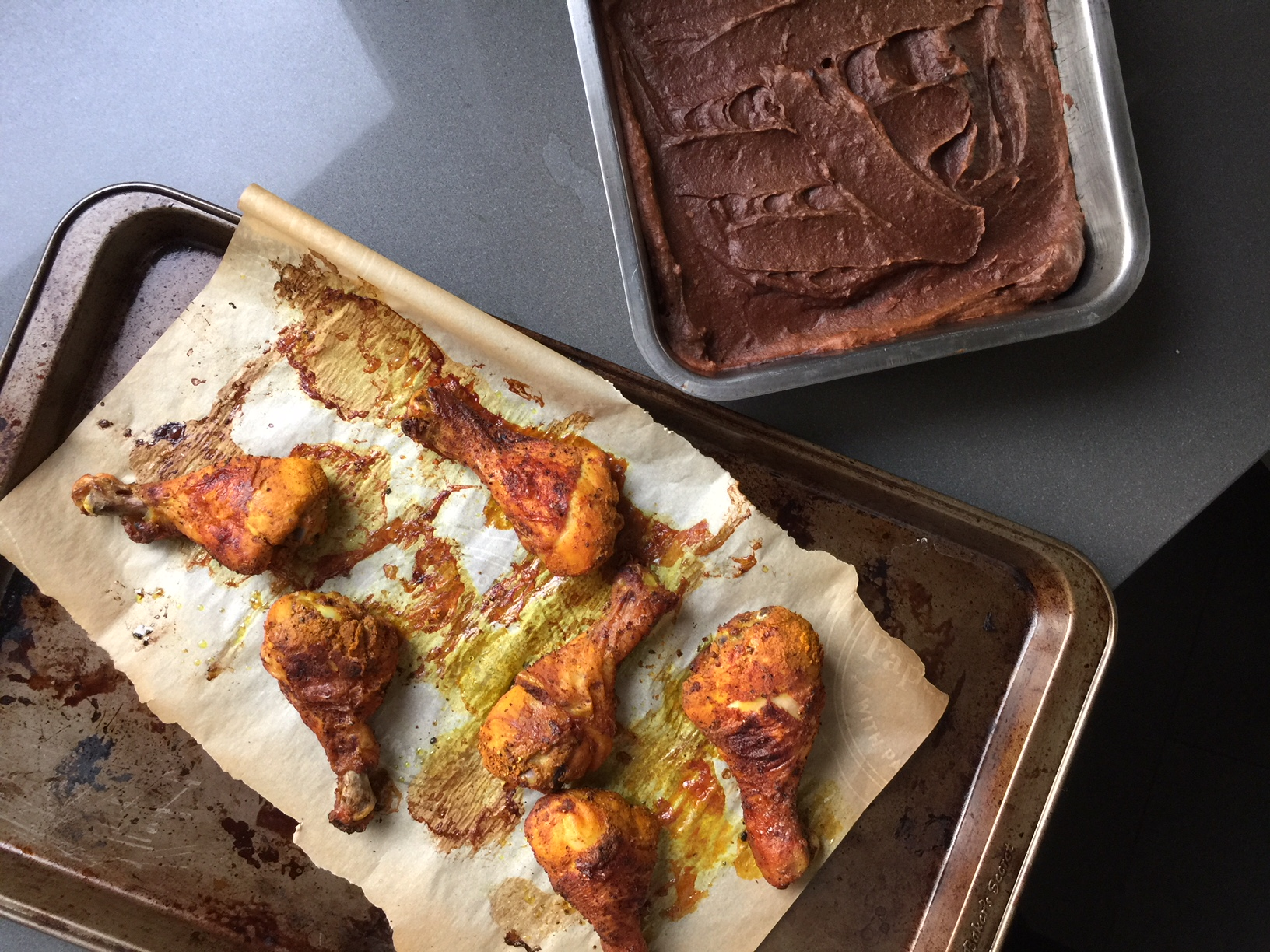 Chicken wings and sweet potato brownies, erryday (but, seriously).