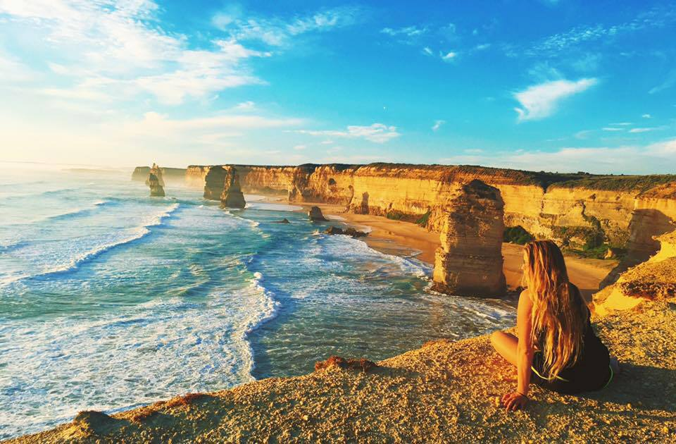 The 12 Apostles along the Great Ocean Road in Victoria, Australia. 2016.