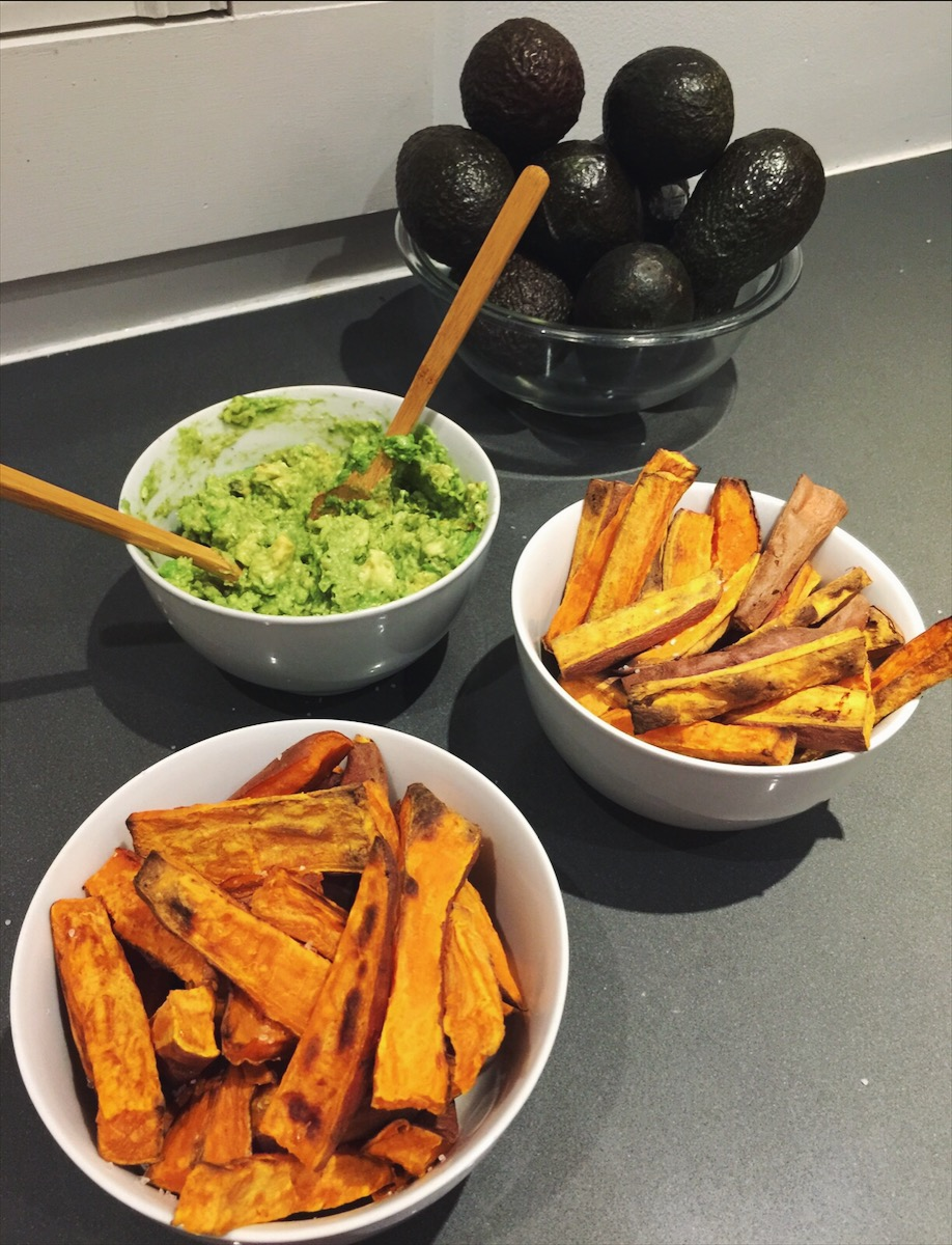 Sweet potato + avocado #friendshipgoals