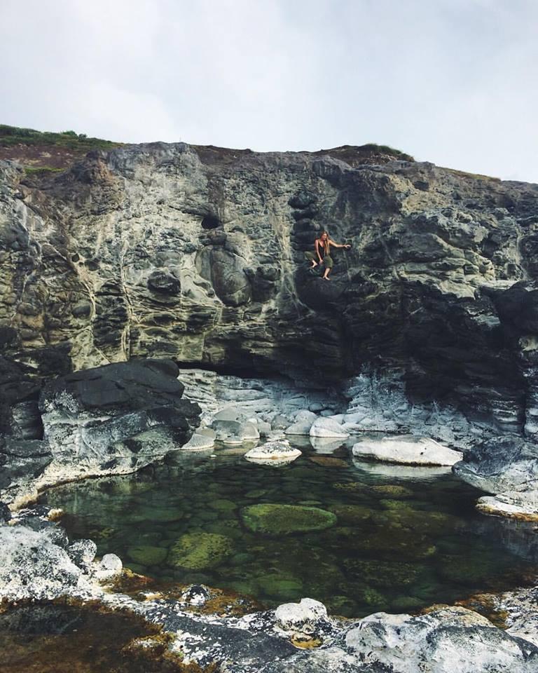 Secret swimming hole near Ho'okipa.