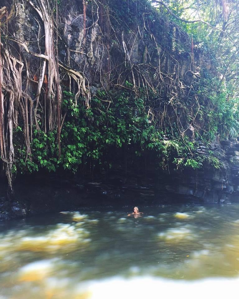 Swimming at Twin Falls.