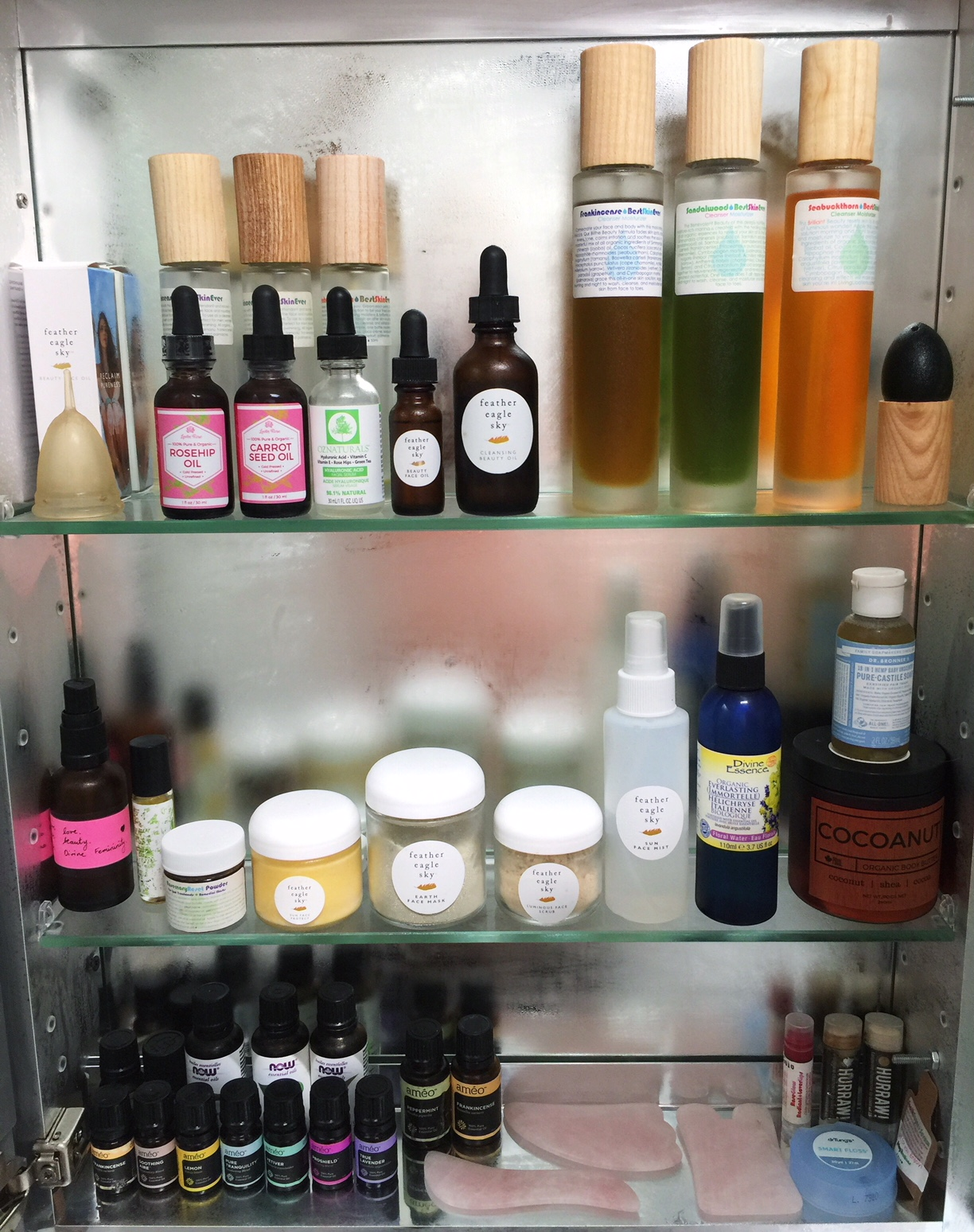 My own bathroom cabinet.  Zero sponsorship, paid for 100% out of pocket- advocating for brands I trust and value.