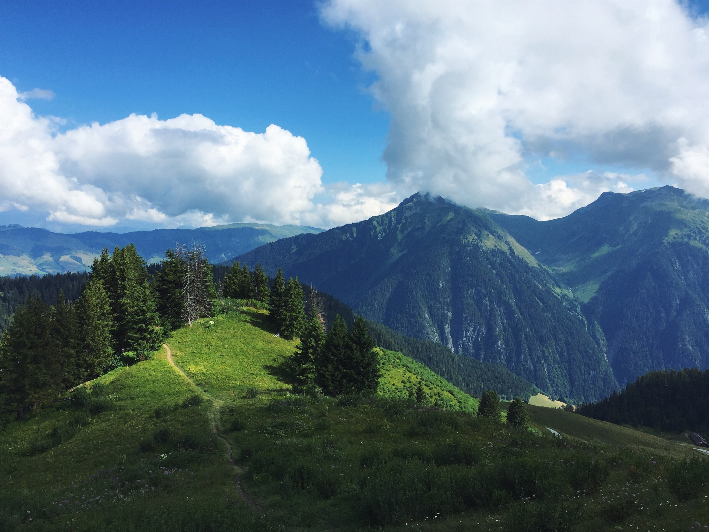 Hiking in the French Alpes, July 2018.