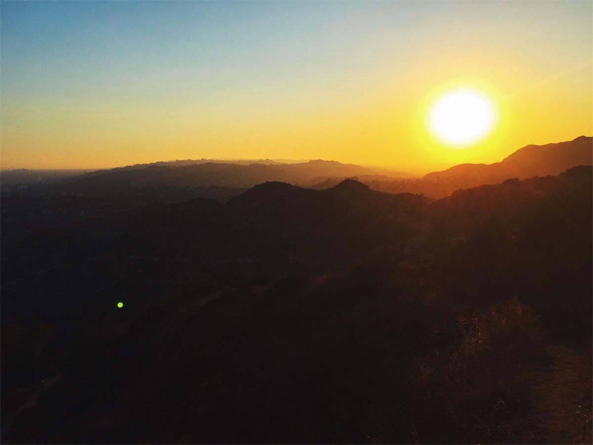 Sun setting over LA, summer 2017.