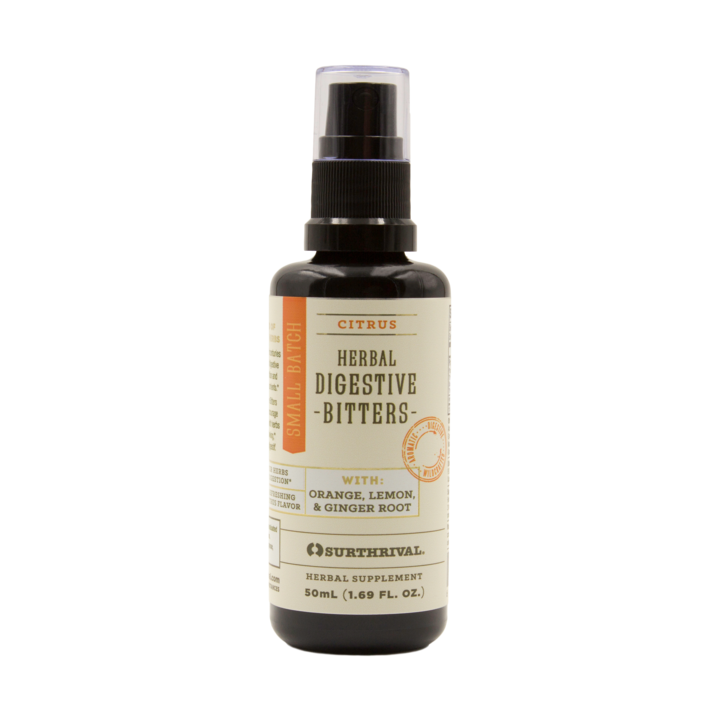 Surthrival Digestive Bitters - Have been used for centuries to stimulate the natural flow of digestive juices, helping to optimize nutrition and support the absorption of key nutrients.