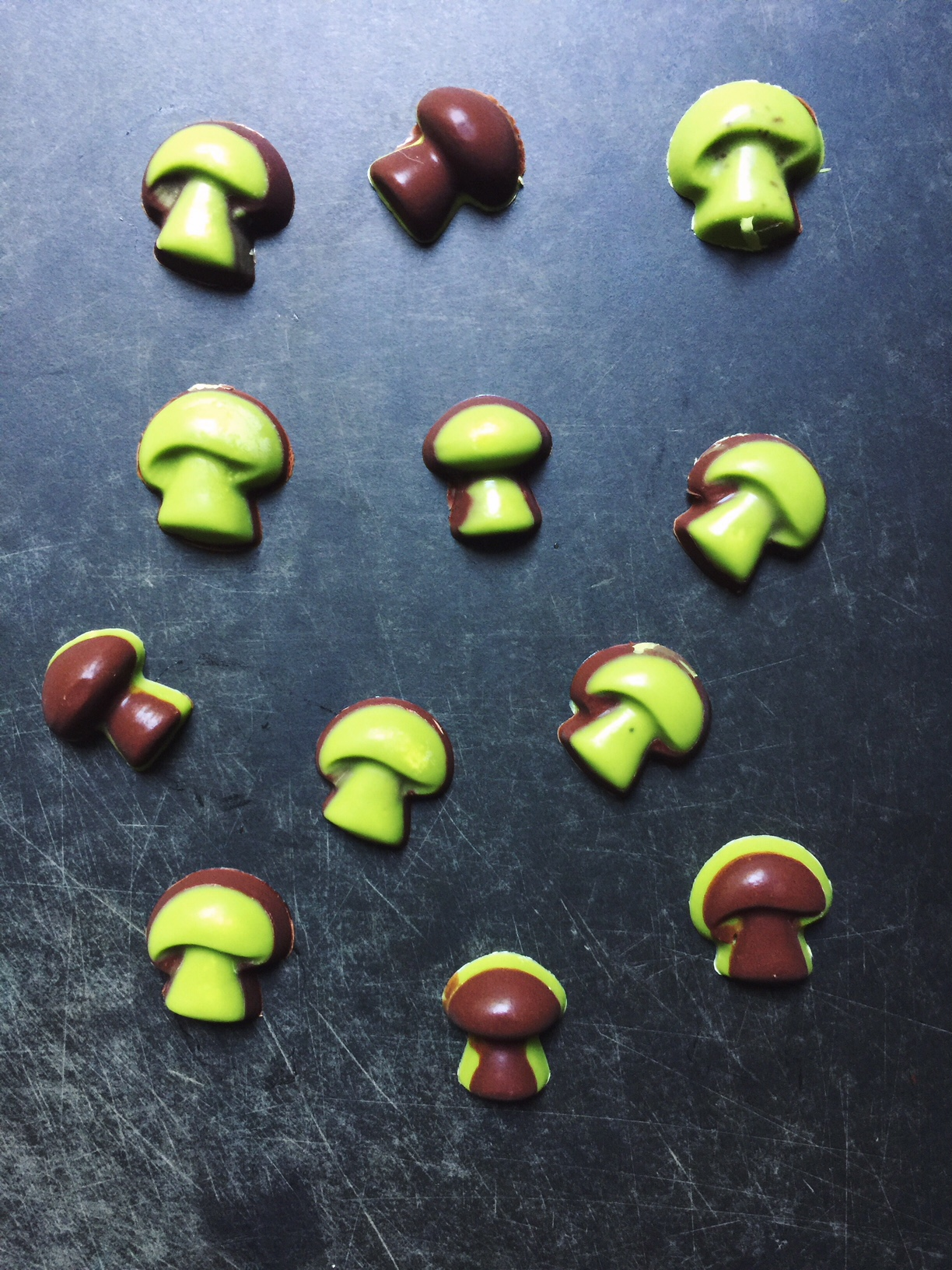 Mushroom chocolate moulds available  HERE .