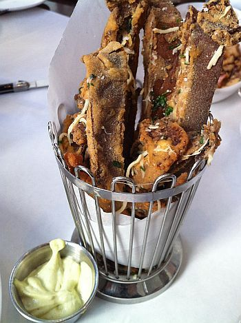 Portobello fries @ Bottega Louie.