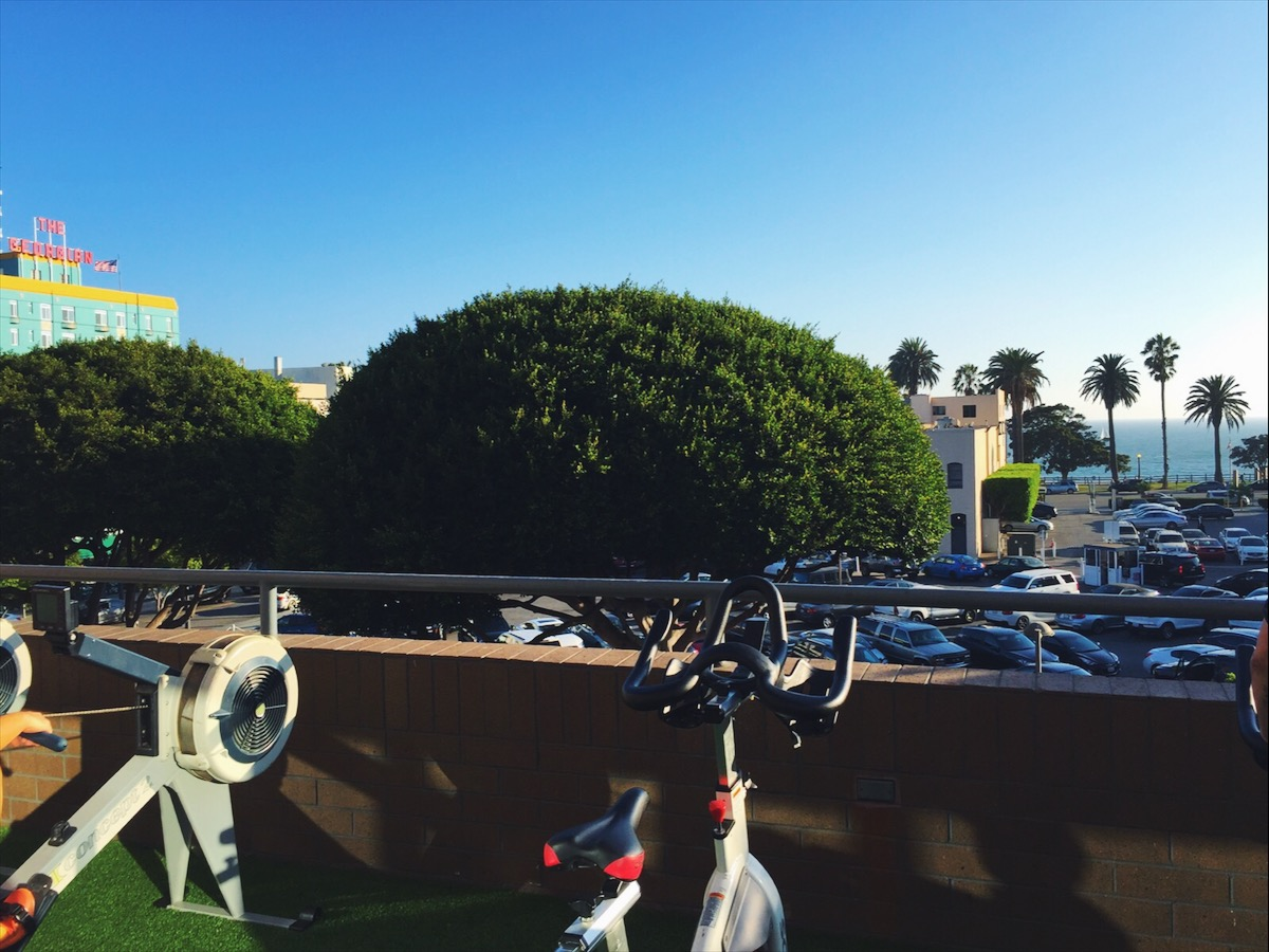 Views from the outdoor section of Equinox, Santa Monica.