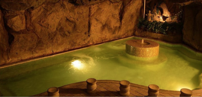 Hot springs at the Beverly Hot Springs Spa & Skin Care Clinic.