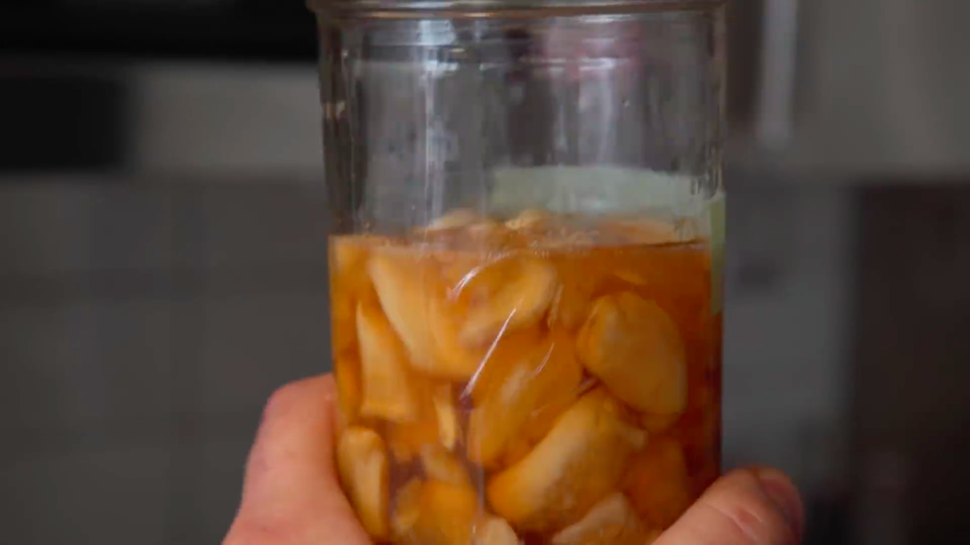 As you can see, the honey will darken significantly over time, it will also becoming completely liquid.  (Image Source:    It's Alive with Brad Leone   )