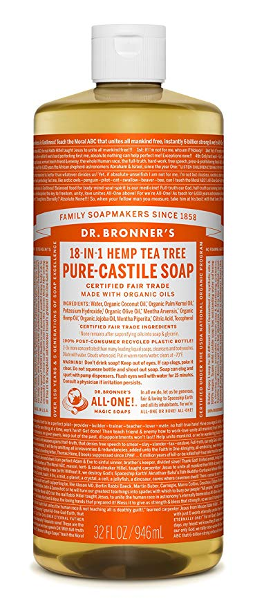 Dr. Bronner's is my #1 choice for non-toxic soap.   Click image for more info.