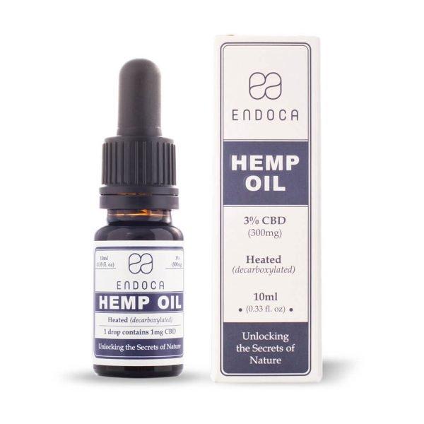Hemp Oil Drops 300mg CBD - (Cannabidiol) (3%)Use code: BecomingFullyHuman for a discount on all Endoca orders.
