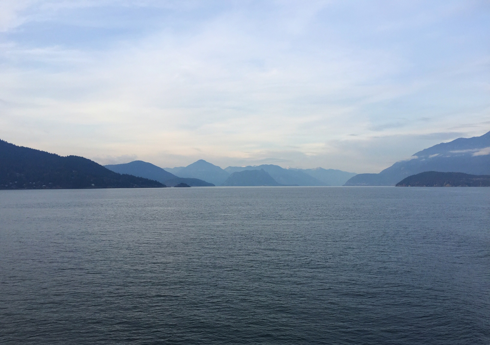 Views from the ferry from mainland Vancouver, to Vancouver island. November 2018.