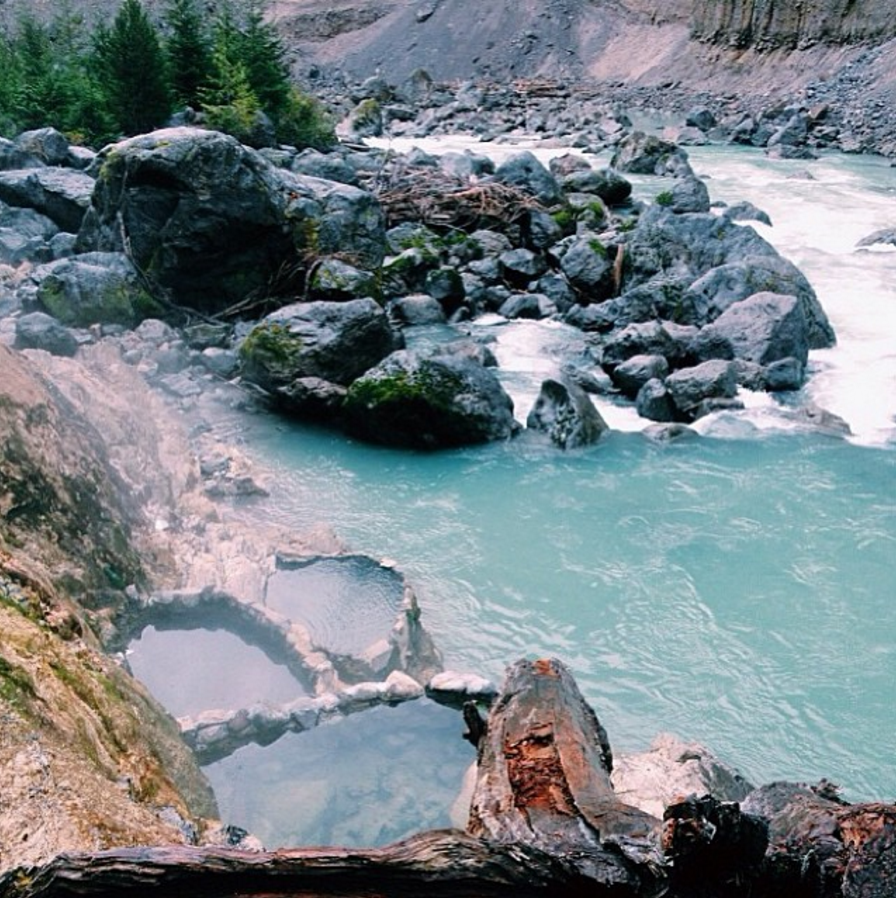 Keyhole hot springs, Pemberton, BC.