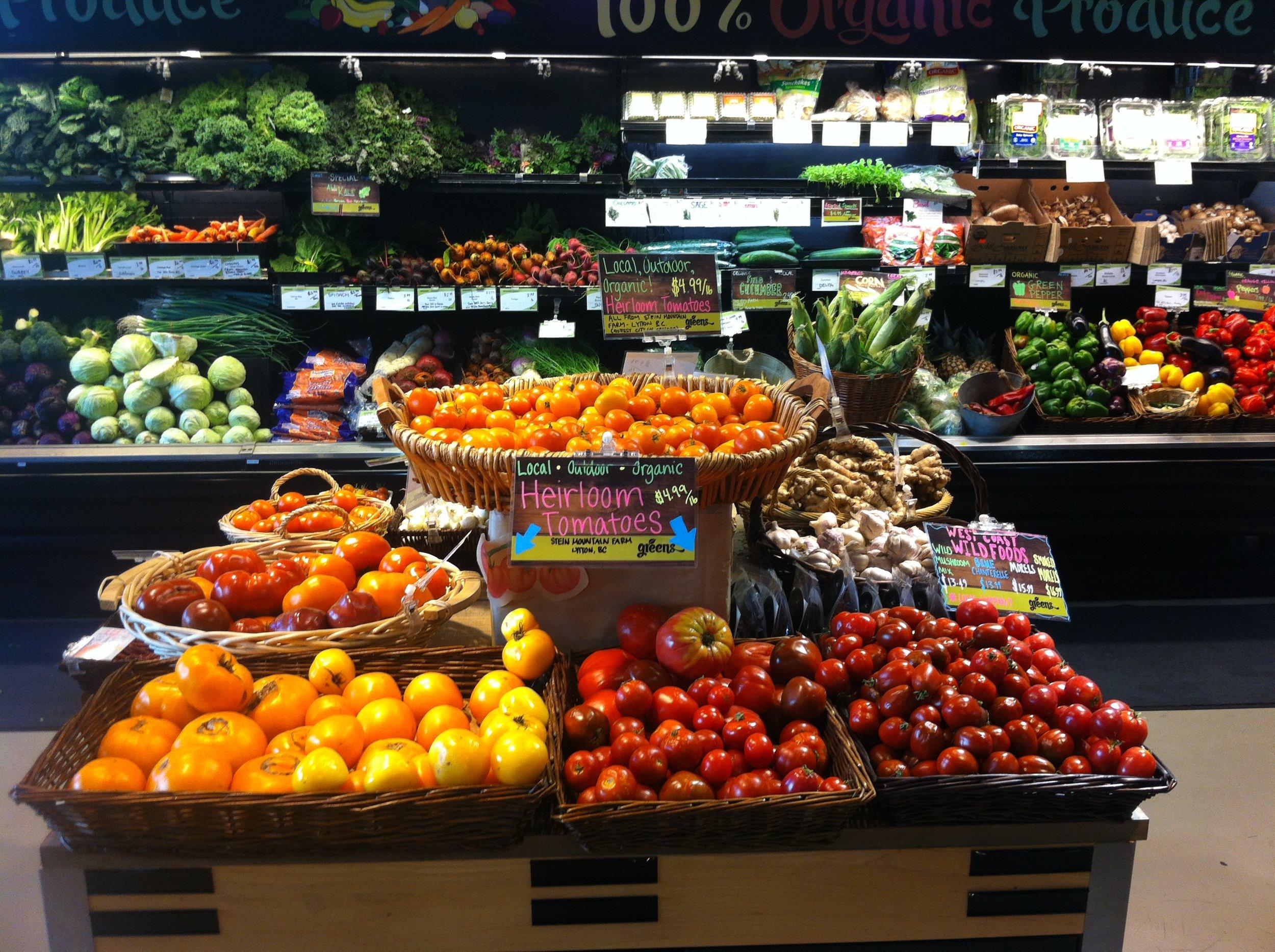 Greens Organic and Natural Market.