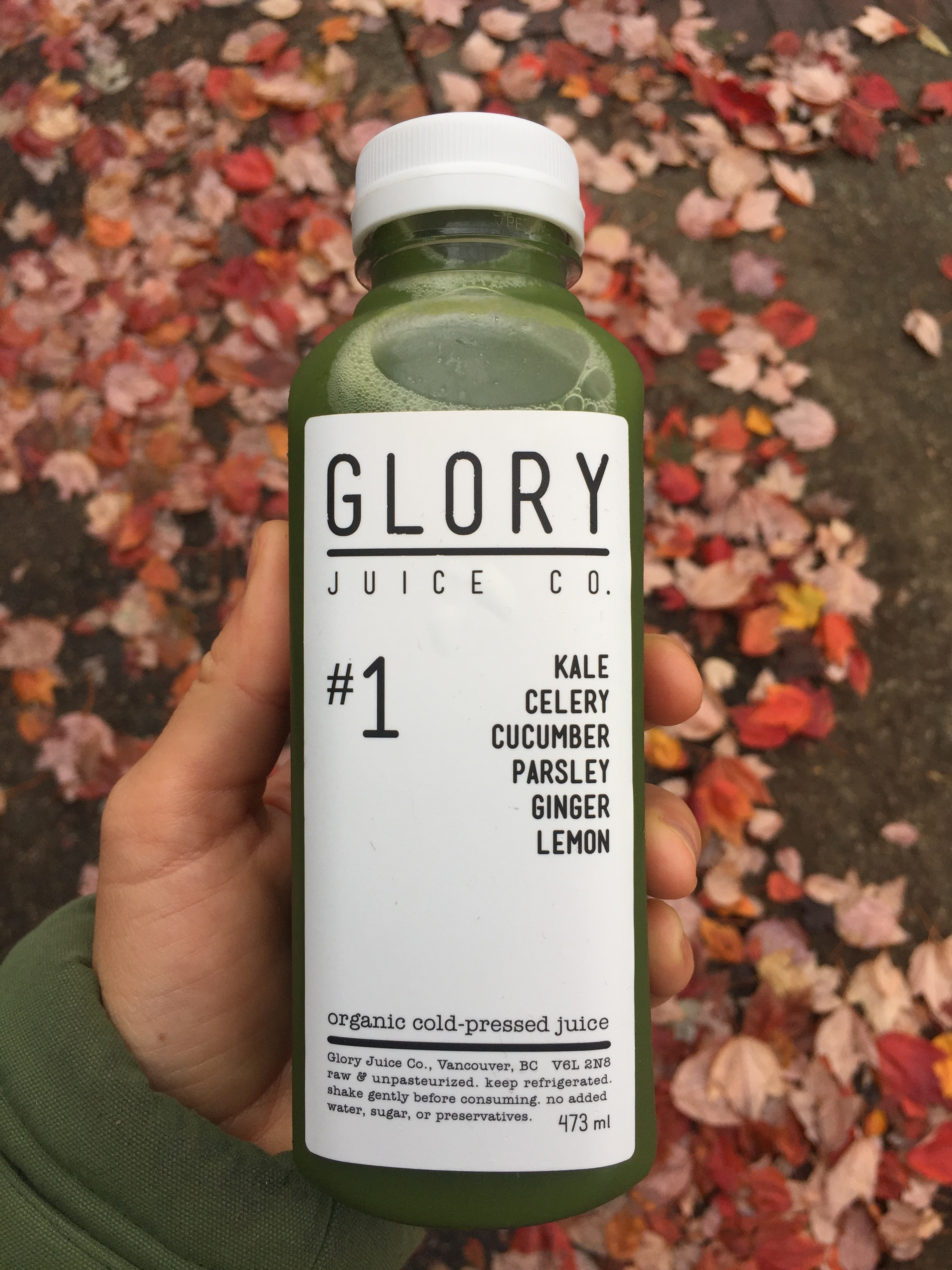 #1 greens juice, from Glory Juice Co.