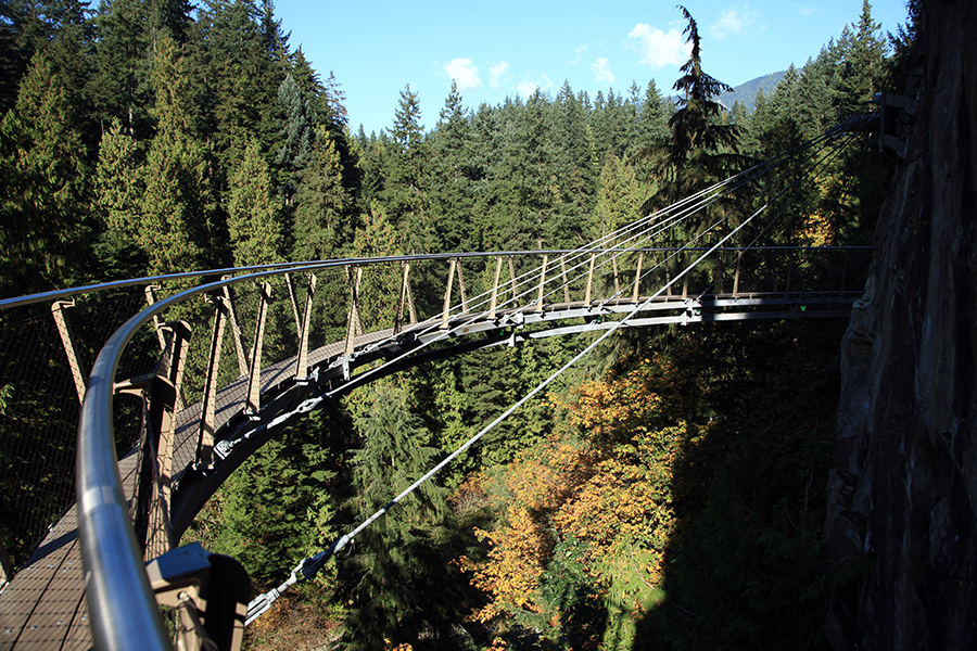 Capilano tree top walk (don't be fooled, it won't be deserted unless you literally break in when the park is closed).