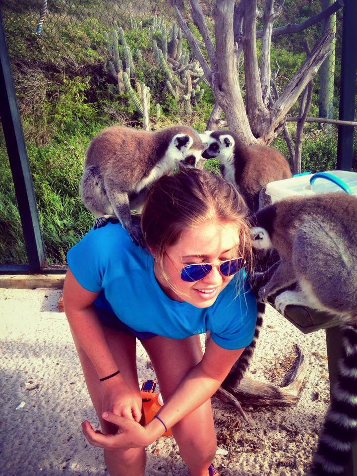 Hanging with Lemurs on Necker Island, when I was working for Richard Branson in the BVI's. Housing, included!