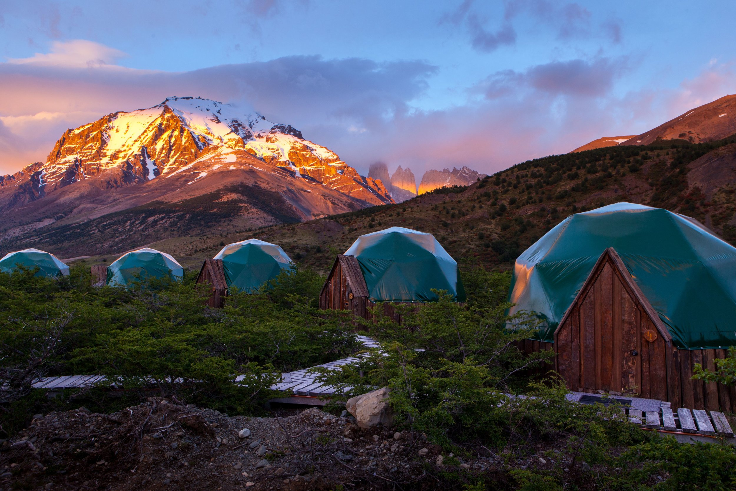 Eco-camp, Patagonia, Chile